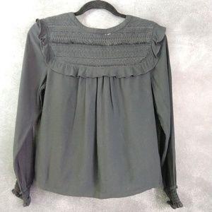 INDIGO COLLECTION | Long Sleeve Peasant Blouse